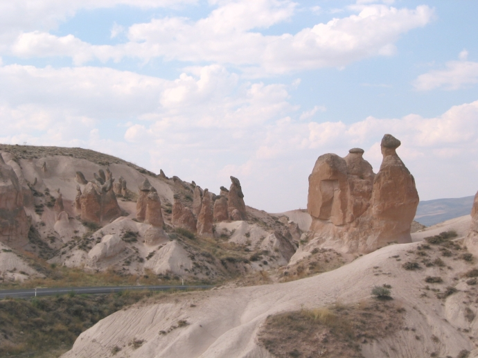 Fairy chimneys in Turkey, Photo taken in 2002 by me.